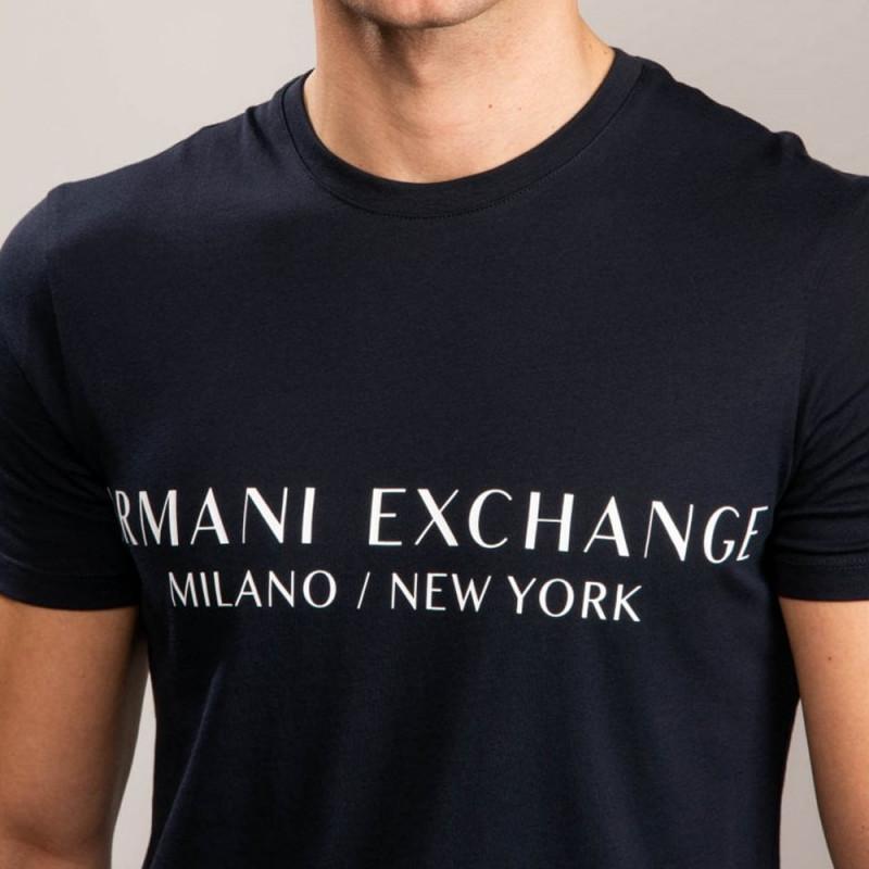 T-Shirt Armani Exchange bleue marine