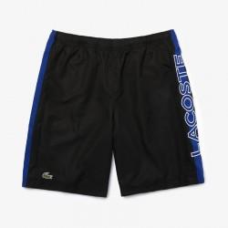 Short Tennis Lacoste Sport Noir avec Bande Bleu Lacoste