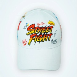 casquette street fight collection vatos blanc rouge