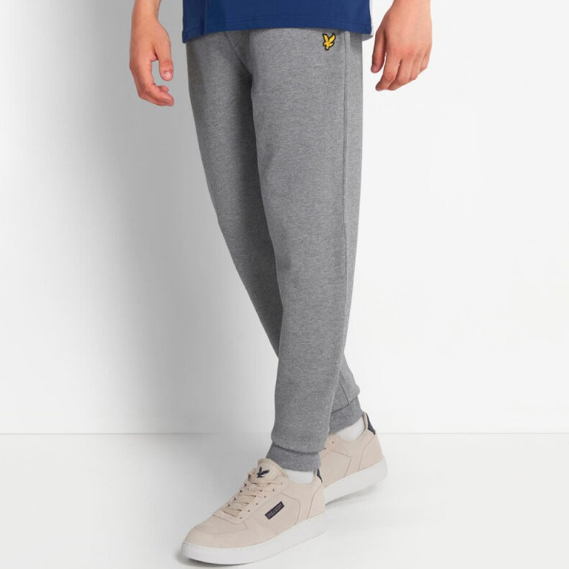 Pantalon de survêtement Lyle and Scott en piqué Gris