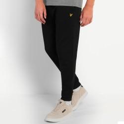 Pantalon de survêtement Lyle and Scott en piqué Noir
