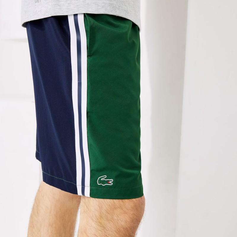 Short Lacoste SPORT léger bicolore à bandes contrastées