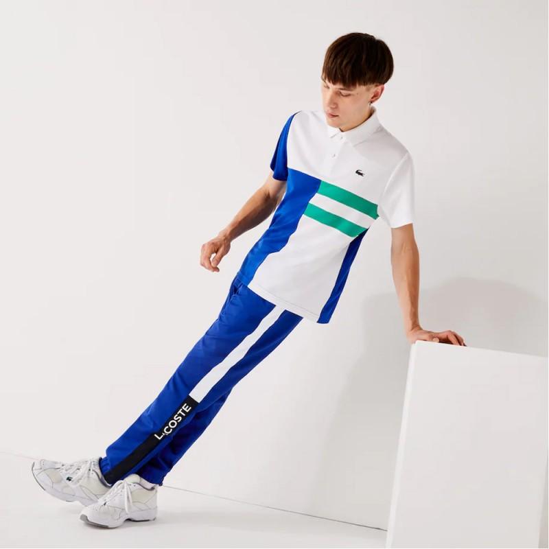 Pantalon de survêtement Lacoste SPORT color-block léger Bleu