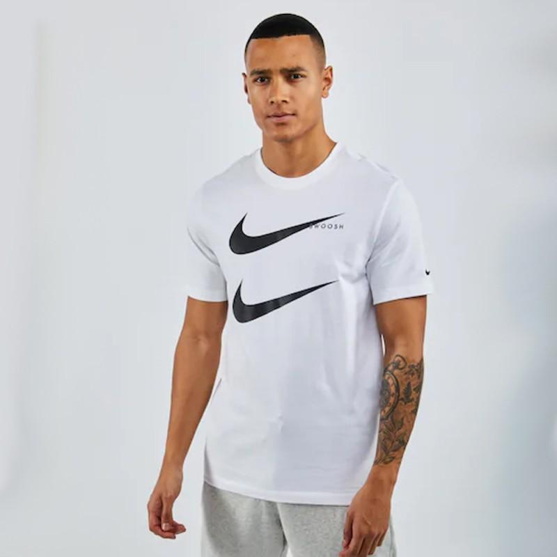 T-Shirt Nike Swoosh Double Blanc