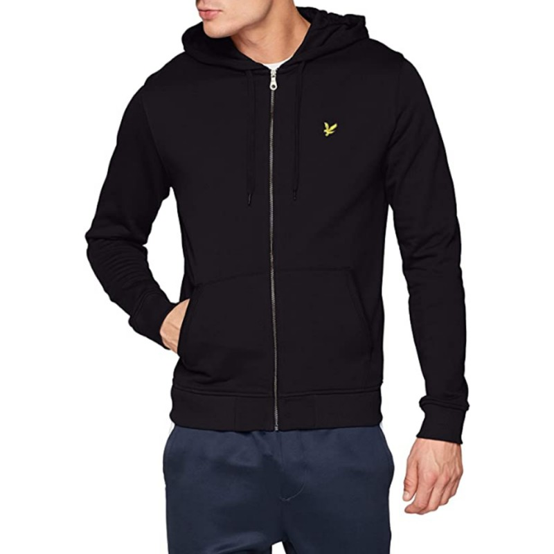 Sweat Lyle & Scott Zippé à Capuche Noir