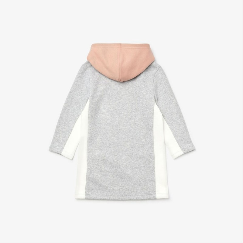 Robe sweatshirt Fille Lacoste SPORT color-block en molleton