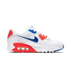 Baskets Nike W Air Max 90 Blanc/Cramoisi flash/Bleu coureur