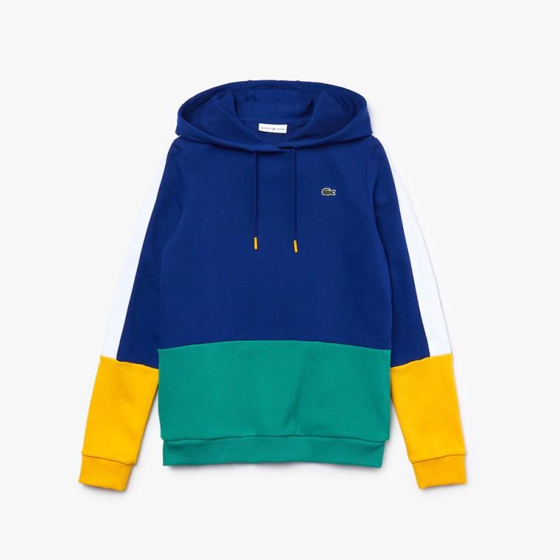 Sweatshirt à capuche Tennis Lacoste SPORT en molleton color-block POUR FEMME