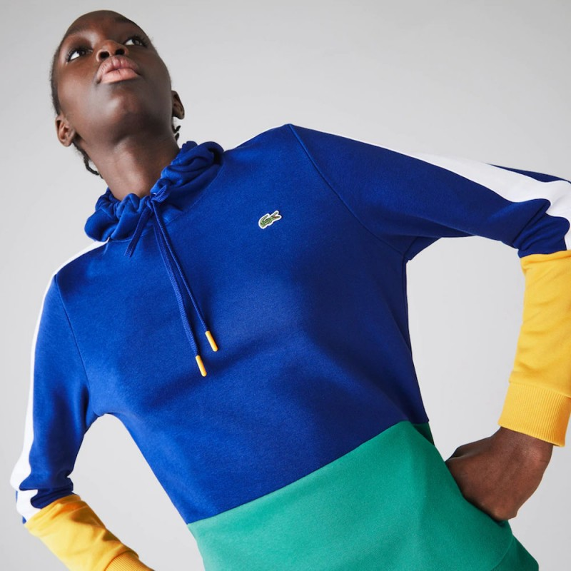 Sweatshirt à capuche Tennis Lacoste SPORT en molleton color-block