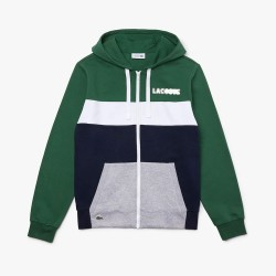 Sweatshirt zippé Lacoste SPORT en molleton color-block