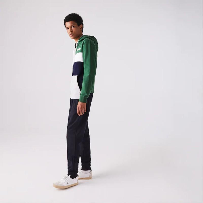 Sweatshirt zippé Lacoste SPORT en molleton color-block