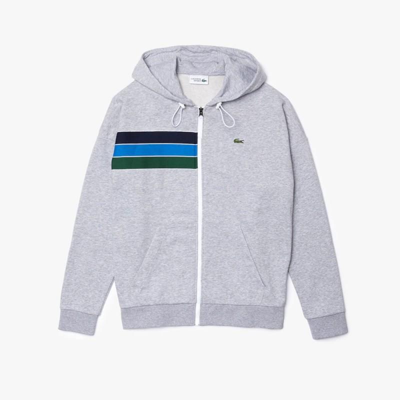 Sweatshirt zippé à capuche Lacoste SPORT en molleton color-block