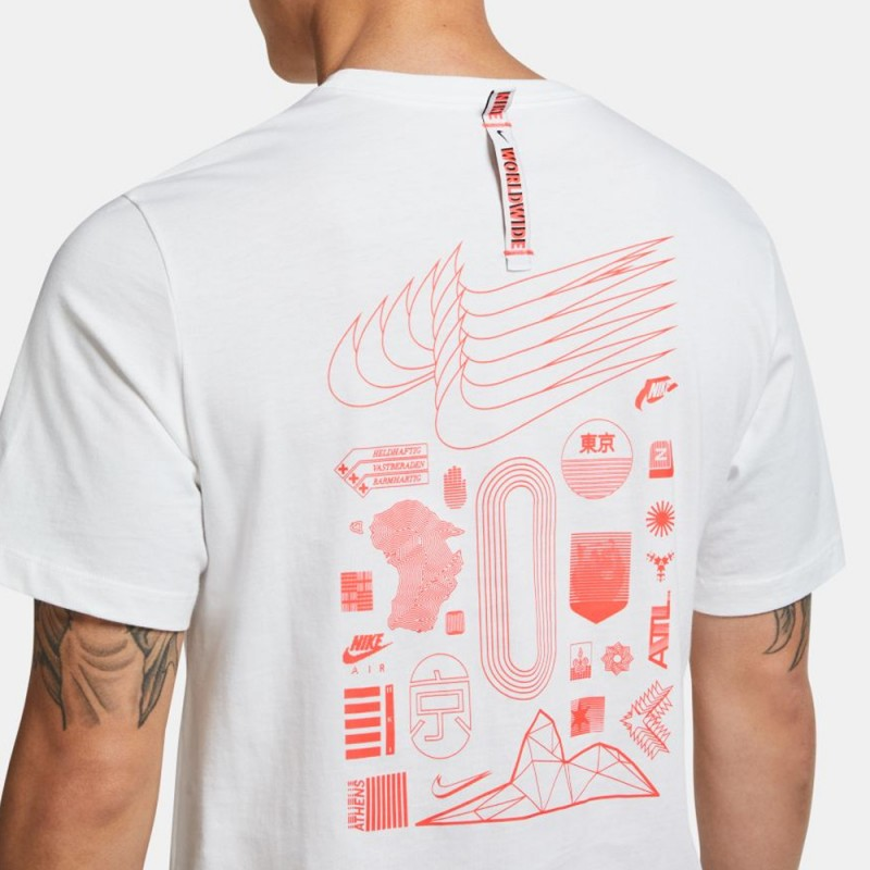 Tee-Shirt Nike Sportwear Worldwide Globe Blanc