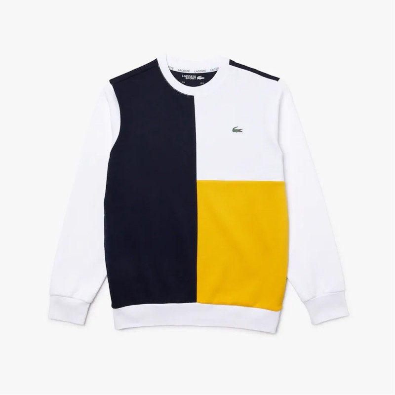 Sweatshirt Lacoste SPORT en coton mélangé double face color-block