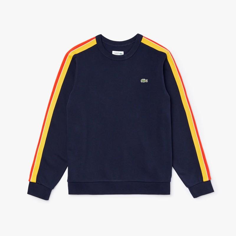 Sweatshirt Lacoste SPORT en molleton avec bandes contrastées