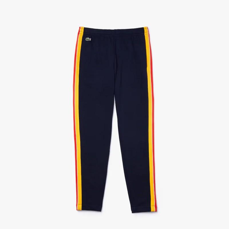 Pantalon de jogging Lacoste SPORT en coton à bandes contrastées