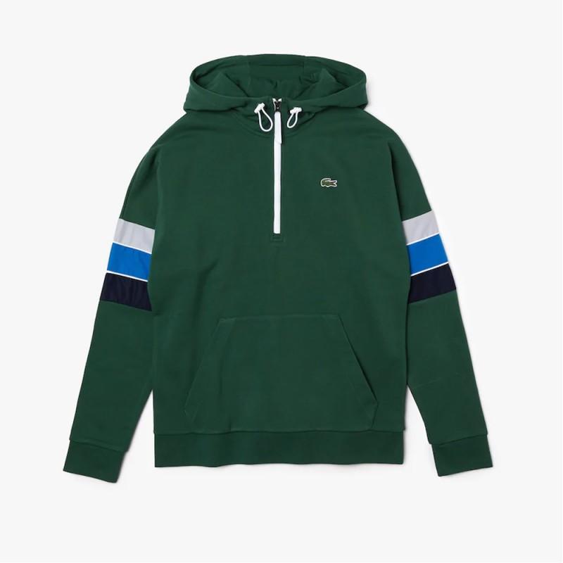 Sweatshirt à capuche Lacoste SPORT en molleton color-block
