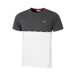 T-shirt à col rond Lacoste SPORT en coton léger bicolore