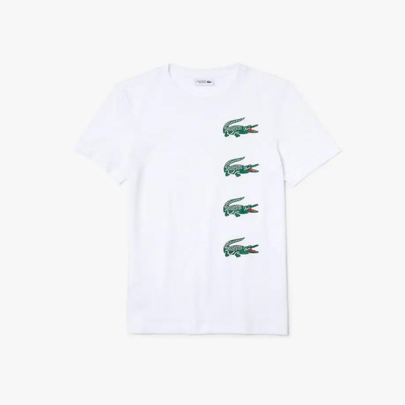 T-shirt à col rond Lacoste SPORT imprimé crocodiles
