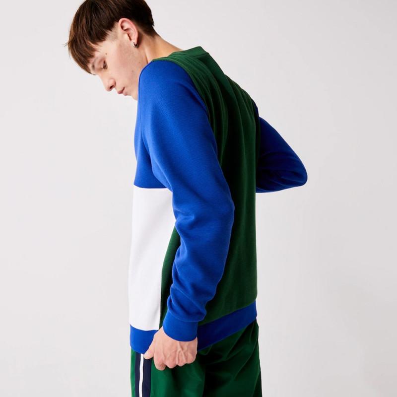 Sweatshirt Lacoste SPORT en coton mélangé double face color-block