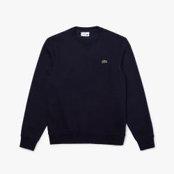 Sweatshirt Lacoste SPORT en molleton de coton mélangé uni