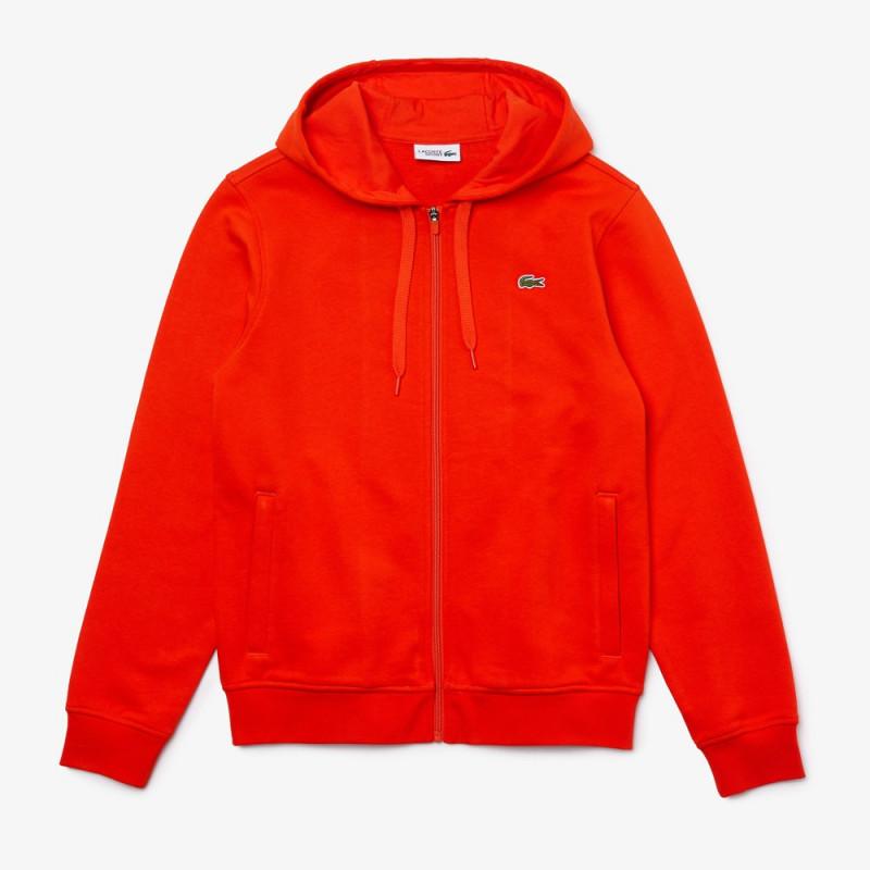 Sweatshirt à capuche Lacoste SPORT léger bi-matière