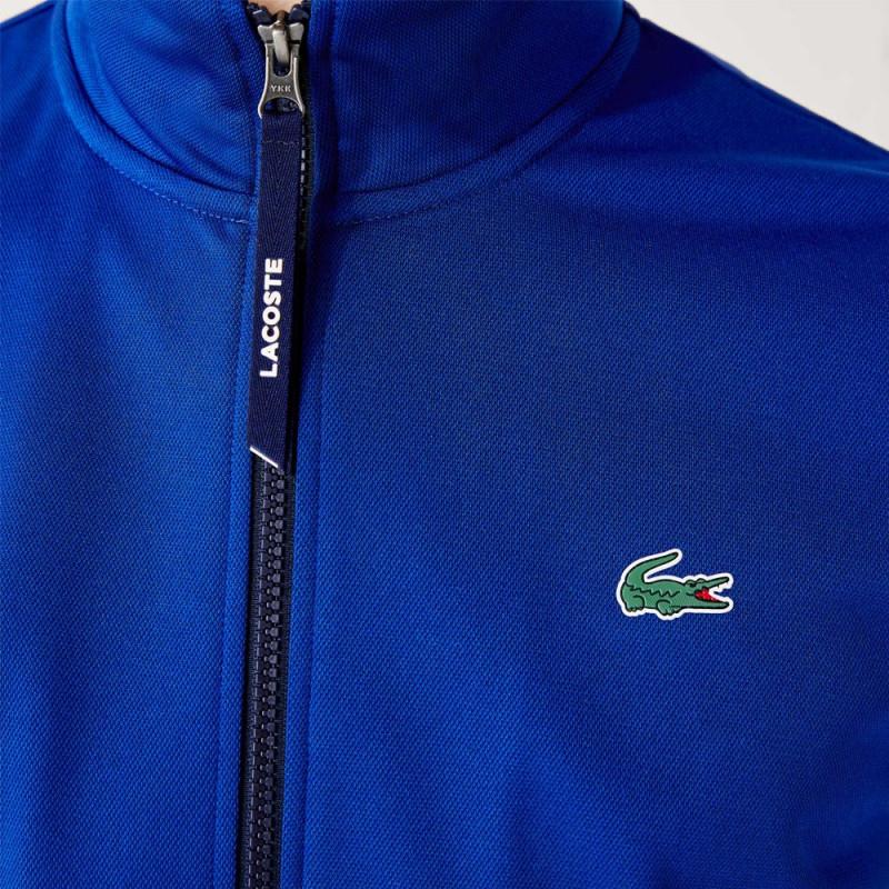 Sweatshirt zippé Lacoste SPORT en piqué technique bicolore