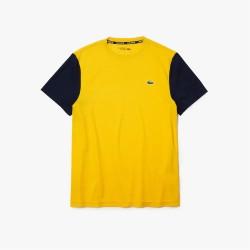 T-shirt Lacoste SPORT en piqué respirant color-block technologie freshness