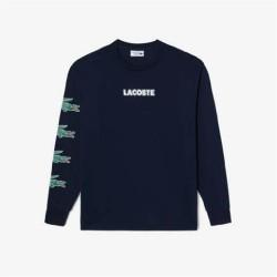 T-shirt Lacoste SPORT en jersey de coton imprimé crocodiles