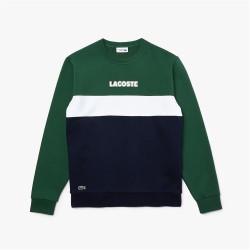 Sweatshirt à col rond Lacoste SPORT en molleton color-block