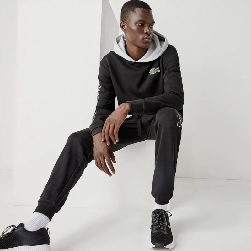 Sweatshirt à capuche Lacoste SPORT en molleton gratté color-block