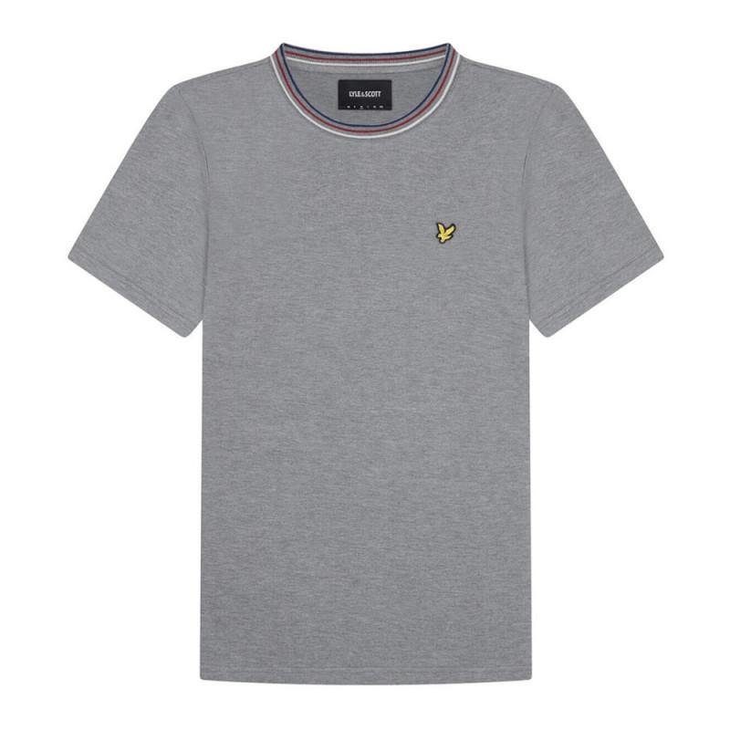 T-Shirt Lyle and Scott à rayure Gris
