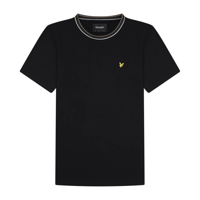 T-Shirt Lyle and Scott à rayure Noir