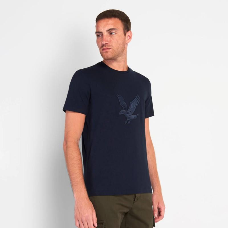 T-Shirt Lyle And Scott Aigle Brodé