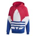 Sweat-shirt Adidas à capuche Big Trefoil Outline Colorblock