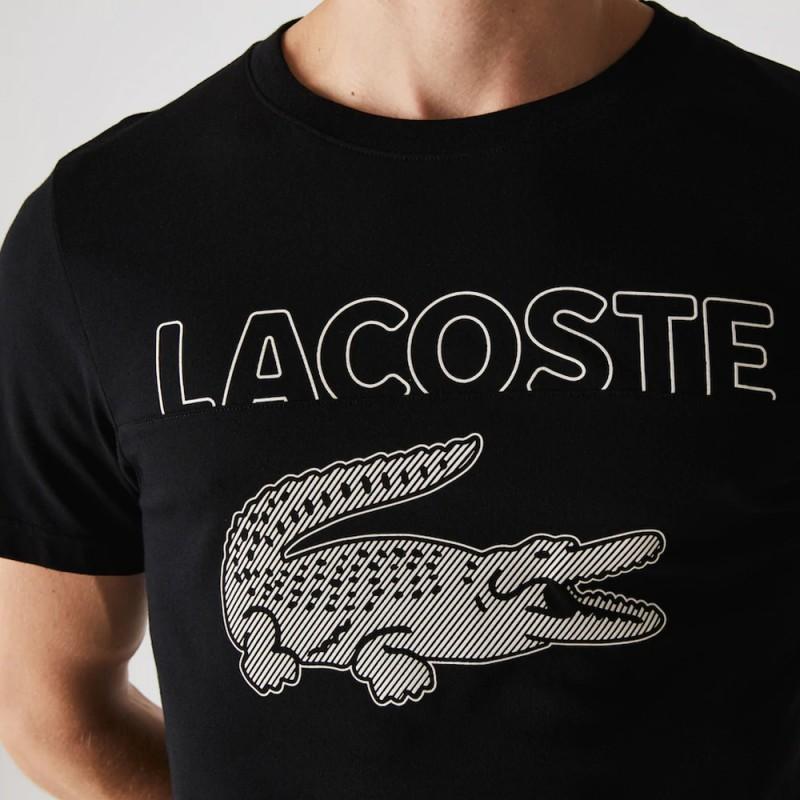 T-shirt Lacoste SPORT en coton biologique mélangé crocodile oversize