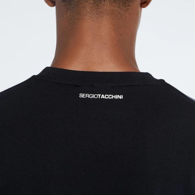 T-Shirt Sergio Tacchini Before Noir Jaune