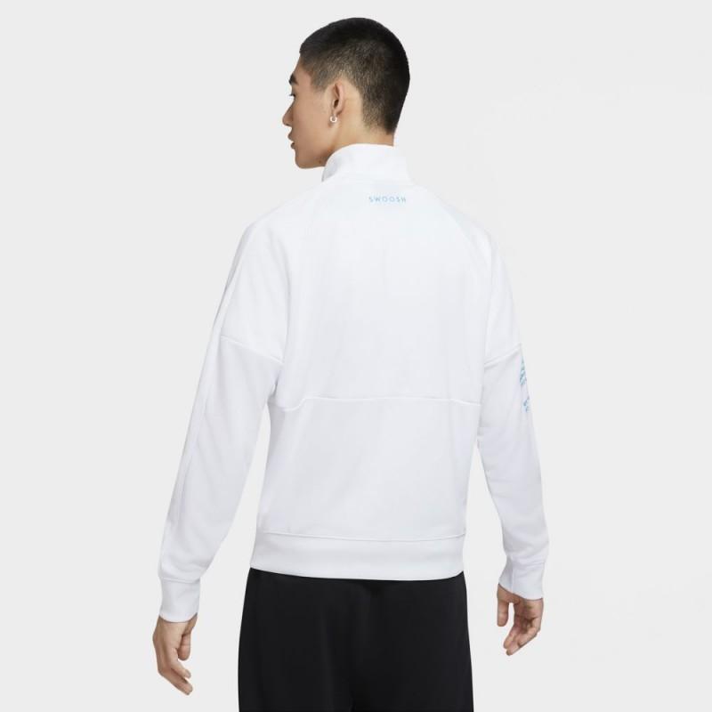 Veste Nike Sportswear Polyknit Swoosh Blanc