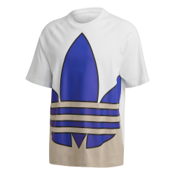 T-SHIRT ADIDAS BIG TREFOIL OUTLINE BLANC BLEU