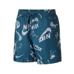 Short Nike Print Bleu