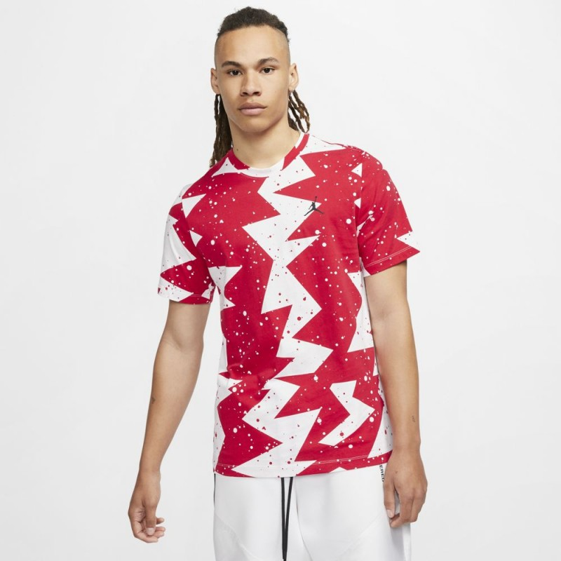T-Shirt Nike Jordan Printed Poolside Rouge