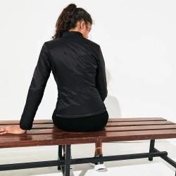 Doudoune Tennis Femme Lacoste SPORT bi-matière avec effet matelassé