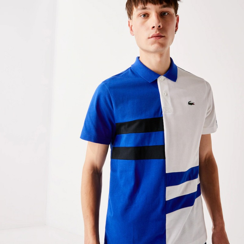 Polo Tennis Lacoste SPORT en coton léger color-block
