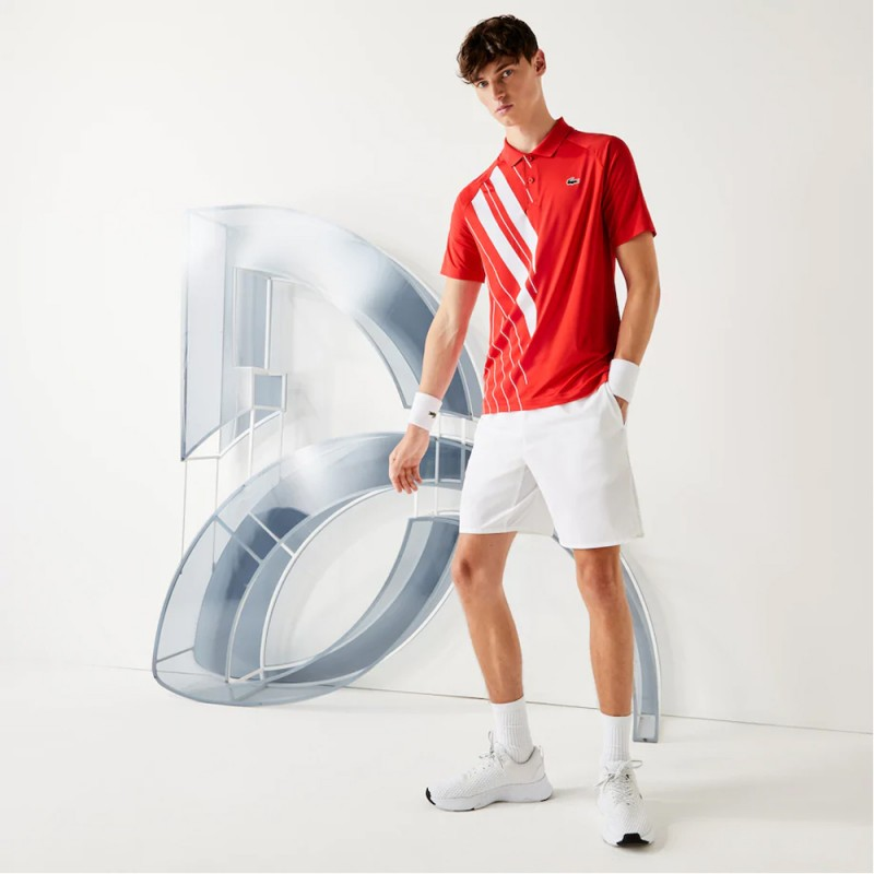 Polo Lacoste SPORT x Novak Djokovic en jersey stretch imprimé
