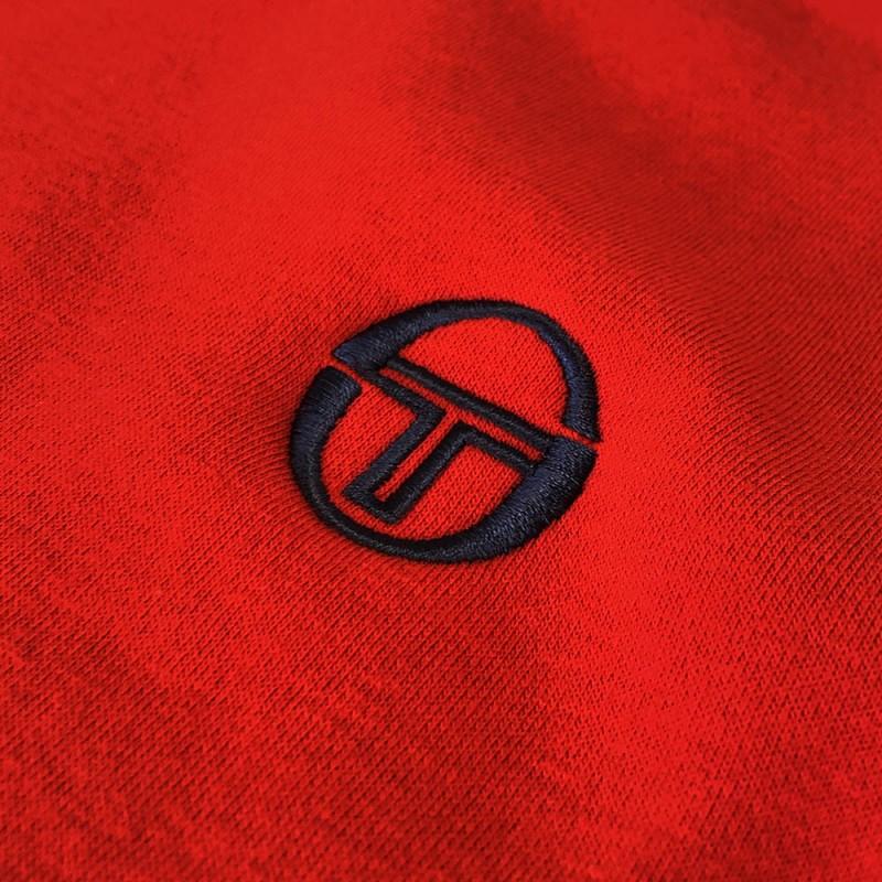 Sweatshirt Sergio Tacchini A Bandes Butch Rouge/Noir