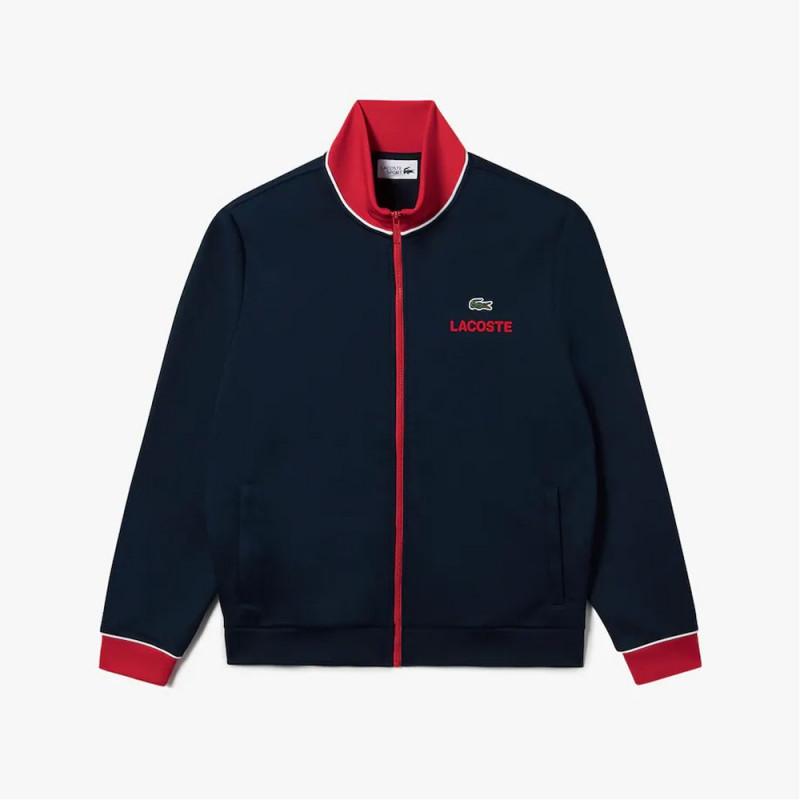 Sweatshirt zippé Lacoste SPORT imprimé avec détails contrastés