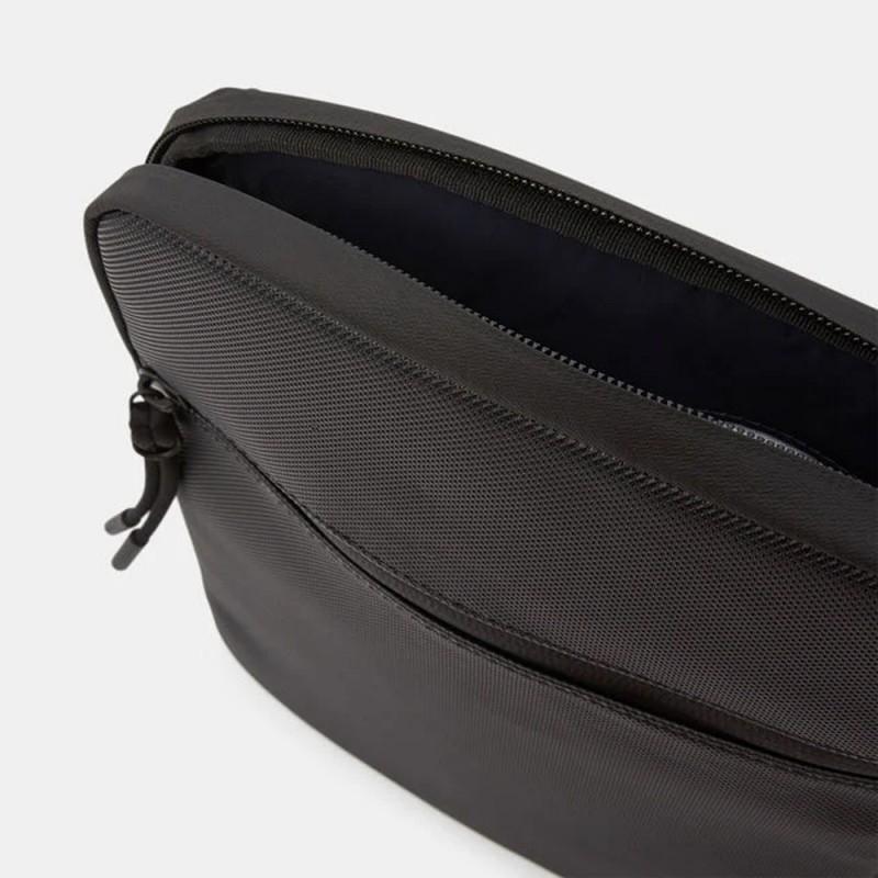 Moyenne sacoche plate LCST croisée en toile enduite