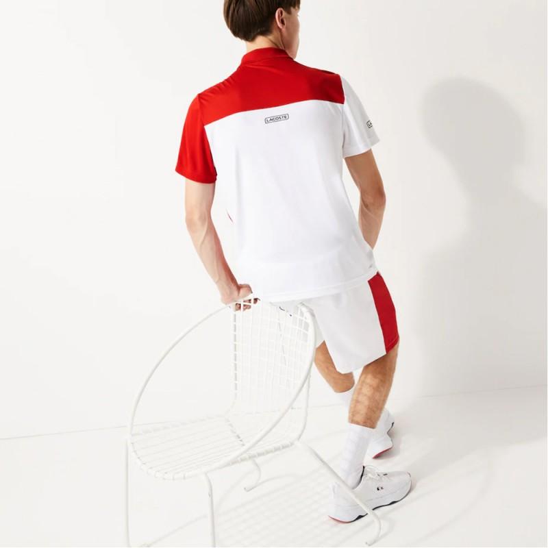 Polo Tennis Lacoste SPORT en piqué respirant color-block
