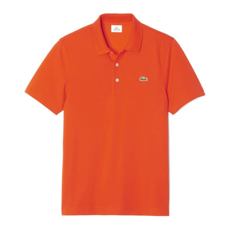 Polo regular fit Lacoste SPORT Orange en maille ultra-légère