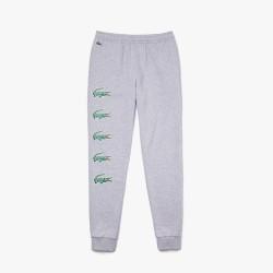 Pantalon de jogging Lacoste SPORT en molleton imprimé crocodiles
